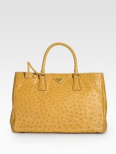 Prada Ostrich leather handbag.