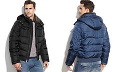 Tommy Hilfiger Puffer Coat with Faux-Fur Collar