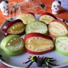 Dentadura de manzana de Hallowen
