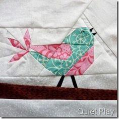 Songbird paper pieced block