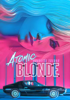 Atomic Blonde Poster by Nicky Barkla Best Movie Posters, Cinema Posters, Movie Poster Art, Cool Posters, Sundance Film, Alternative Movie Posters, Wow Art, Cultura Pop, Illustrations And Posters