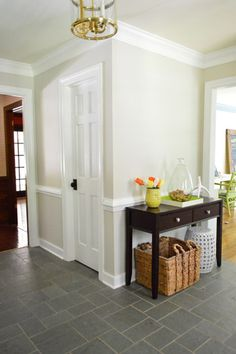 Edgecomb gray paint color. Foyer Freshness   Young House Love