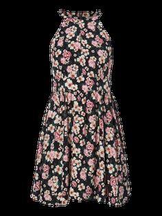 REVIEW Kleid mit floralem Muster in Grau / Schwarz online kaufen (9641608) » P&C AT Online Shop