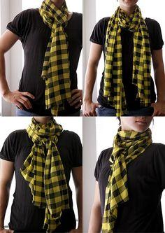 delia creates: seamless scarf ~ Tutorial ~t~ Fashion Moda, Diy Fashion, Autumn Fashion, Fashion Tips, Mens Fashion, No Sew Scarf, Diy Scarf, Sewing Scarves, Sawdust Girl
