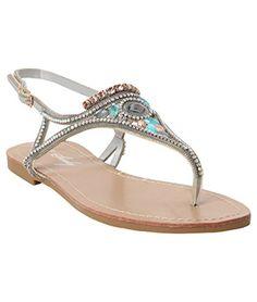 Womens Summer Thong Sandals Strappy Flat Flip Flops Beach Party Rhinestones Flat KRISP http://www.amazon.com/dp/B00WZ7EKO8/ref=cm_sw_r_pi_dp_ZrVTvb03J30H9