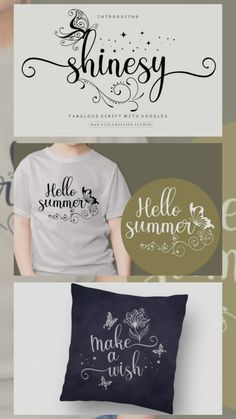 Shinesy (Font) by HansCo · Creative Fabrica Calligraphy Fonts, Script Fonts, All Fonts, Monogram Fonts, Monogram Letters, Summer Font, Hand Lettering Tutorial, Wedding Fonts, Lettering Styles