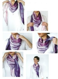10 ways to tie a scarf in a beautiful and unusual way (with step-by-step .- 10 способов красиво и необычно завязать шарф (с пошаговыми фото) 10 ways to beautifully and unusually tie a scarf (with step-by-step photos) so that everyone wants the same Ways To Tie Scarves, Ways To Wear A Scarf, How To Wear Scarves, Scarf Knots, Tie A Scarf, Square Scarf Tying, Hooded Raincoat, Neck Scarves, Scarf Styles
