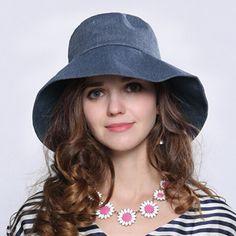 5b11d8c4221 Fashion ladies wide brim sun hat for summer bow bucket hats UV