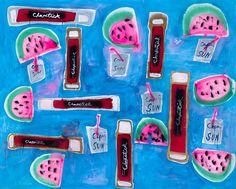 Chapsticks, Watermelons, and Capri Sun, 2015 | Katherine Bernhardt ‹ CANADA