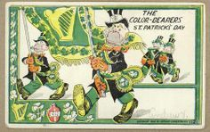 The following cards are produced by the Arthur Livingston Co of New York who was active from 1897-1907.  They're working on racist stereotypes of the Irish - Punch Magazine from England often portrayed the Irish as monkeys - or simianized.  The issue of Irish comic and racist caricature especially in the United States and England has been the subject of much research.