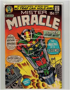 April 1971 DC Comics Mister Miracle #1 Issue - Jack Kirby - Very Nice Comic Book