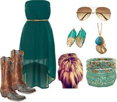 """""""Texas Teal"""" by fashion-faux-pas on Polyvore"""