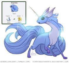 Dragonair+Ninetails=Dragontails_Pokefusion