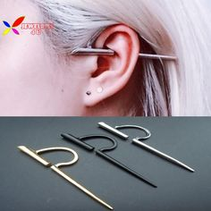 2015 hot fashion punk gold silver black spike Rock & Roll no pierced ear cuff earrings for men & women pendientes no-perforados(China (Mainland)) Helix Earrings, Cuff Earrings, Cartilage Earrings, Crystal Earrings, Clip On Earrings, Mens Earings, Ear Jewelry, Cute Jewelry, Jewelry Accessories