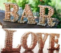 Fabric Crafts Creations in corks of PRENOM . Check more at www. - Fabric Crafts Creations in corks of PRENOM … Check more at www. Wine Cork Art, Wine Cork Crafts, Wine Bottle Crafts, Wine Cork Letters, Wine Cork Projects, Craft Projects, Projects To Try, Diy Décoration, Fabric Crafts
