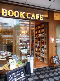 Book Cafe that is just amazeballs ! Book Cafe, Book Store Cafe, Bookshelf Plans, Bookshelves, Cafe Bar, Design Café, Coffee Shop Design, Book Aesthetic, Coffee And Books
