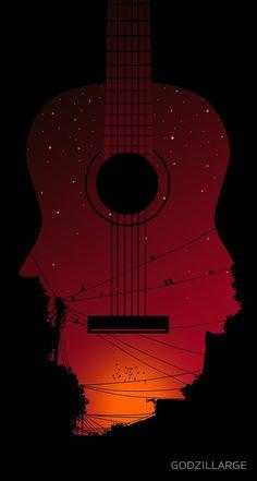 Let's Sing and Go Home Music Poster Print Music Drawings, Music Artwork, Cool Artwork, Art Drawings, Music Painting, Beautiful Dark Art, Music Wallpaper, Cool Wallpapers Music, Guitar Art