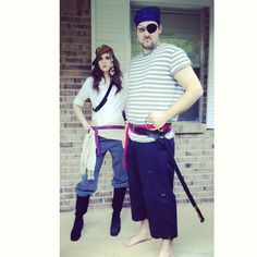 DIY pirate costumes - my bestie in the photo with her man!!
