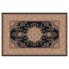 Dynamic Rugs Brilliant Collection Wool Hearth Rug-Black Kalei - BR247201090