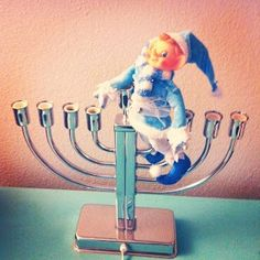 Happy Chanukah from me and the Chanukah Elf on the Shelf🕎🧝♂️🕯️🕯️🕯️🕯️🕯️🕯️
