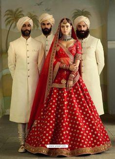 Most Popular Sabyasachi Lehenga Designs For Brides of 2019 - SetMyWed Red Wedding Lehenga, Sabyasachi Lehenga Bridal, Banarasi Lehenga, Red Lehenga, Indian Bridal Lehenga, Bridal Lehnga Red, Wedding Sherwani, Wedding Sarees, Pakistani Bridal
