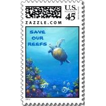 Turtle's Under Sea Life Postage Stamps