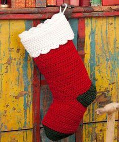 Crochet Christmas Stocking Pattern Free Crochet Pattern LW2634