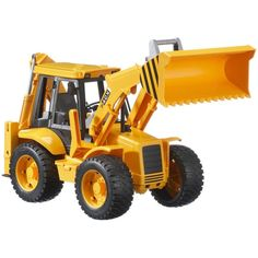 Bruder Toys JCB Fully-Functional Backhoe Loader with Tread Tires Multicolor Dump Trucks, Toy Trucks, Baby Toys, Kids Toys, Construction Toys For Boys, Play Vehicles, Pokemon Toy, Backhoe Loader, New Toys