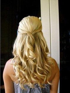 Wedding hair. Half up half down