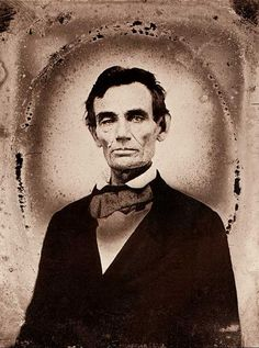 Abraham Lincoln in an un-retouched photo.
