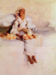 The Little Fruit Seller, 1879, John Singer Sargent    Medium: oil, board