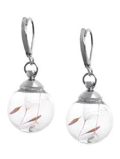 Glass Globe Drop Earrings