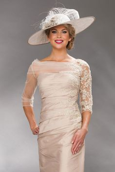 Floor length dress with wide neck and elbow length sleeves Product Code: 8724L Colours: Gold, Sugarplum, Purple, Platinum