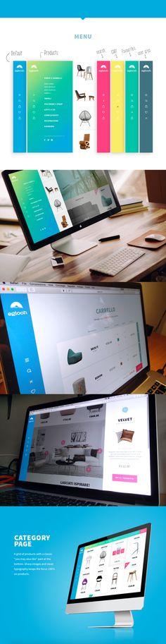 Eglooh   E-commerce Design on Behance