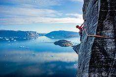 climbing & travelling — Sean Villanueva O'Driscoll on  Baffin Island,...