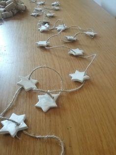 Rustic Christmas garland made from Salt dough