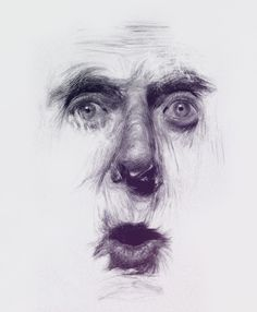 Surprised by fear Art Print by Dimitris Evagelou - X-Small Abstract Portrait, Portrait Art, Illustration Art Drawing, Art Drawings, Graphite Art, Pencil Sketch Drawing, Traditional Ink, Drawing Expressions, Figure Drawing Reference