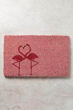 Flamingo Love Doormat #anthropologie