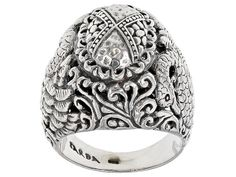 Artisan Gem Collection of Bali™ Sterling Silver Swan Ring