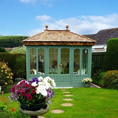 The Malvern Ashton Summer house is available from GBC Group, delivery and installation are included as standard. Summer House Garden, Summer Houses, Home And Garden, Corner Log Cabins, Garden Huts, English Summer, Garden Pavilion, Tiny House Nation, Backyard Gazebo