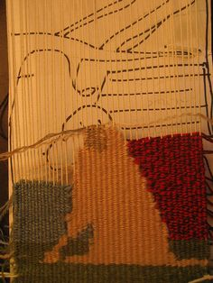 small incomplete tapestry & cartoon by dot.parker1, via Flickr