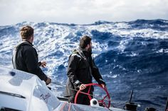 """On the 46-foot """"F4,"""" @redbull Team Falcon faced a complex stretch of ocean that turned treacherous, affected by the Gulf Stream and always-changing Atlantic currents. The adverse weather, and unpredictability of navigation and communication in the open ocean, added to the challenge of managing the boat's finite energy supply."""