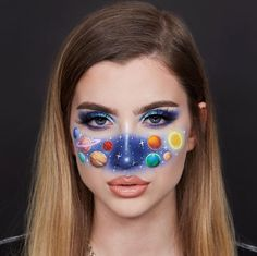 Sisters Are Taking Makeup To The Next Level And Here Are Their 30 Mind-Blowing Transformations Cool Makeup Looks, Crazy Makeup, Cute Makeup, Looks Halloween, Halloween Makeup, Halloween Photos, Vintage Halloween, Halloween Costumes, Makeup Inspo