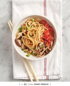 easy peanut noodles {2 ways} recipe  | healthy recipe ideas @xhealthyrecipex |