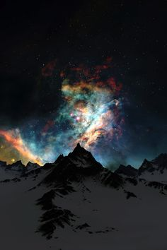photography winter alaska sky trees night stars northern lights night sky starry colors outdoors forest colorful explosion milky way starry sky Astronomy aurora borealis nature landscape Oh The Places You'll Go, Places To Travel, Places To Visit, Travel Destinations, Vacation Travel, Vacation List, Travel Stuff, Vacation Rentals, Travel Europe