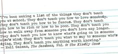Neil Gaiman... Wow... Never really thought of those things but its true!