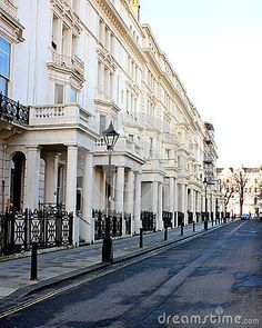The beautiful 19th century Palmeira Square in Hove, England