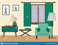 Illustration about Living room with sofa, table, lamp, paintings, window. Vector illustration in a flat style. Illustration of graphic, indoor, home - 188631722 Interior Sketch, Home Movies, Flat Style, Living Room Sofa, Table Lamp, Windows, Paintings, Storage, Illustration