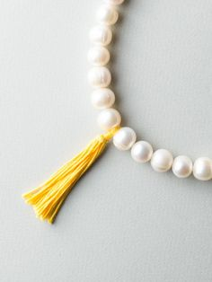 PearlTex Necklace by Carla Szabo Silver Pearls, Cultured Pearls, Tassel Necklace, Jewelry Design, Detail