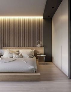 Minimalist Home Design Ideas. In any case, whether your thinking about contemporary or modern interior design here are some essential suggestions you should keep whenever you are p. Minimalist House Design, Minimalist Bedroom, Minimalist Home, Modern Bedroom, Master Bedroom, Trendy Bedroom, Modern Beds, Master Suite, Modern Wall